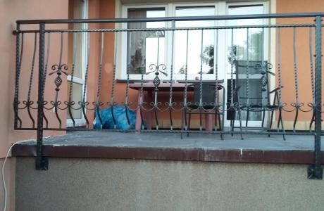 balustrada z elementami C cynkowana