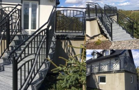 balustrada stal czarna  cynkowana
