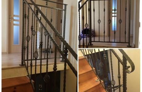 balustrada na klatce schodowej stal czarna