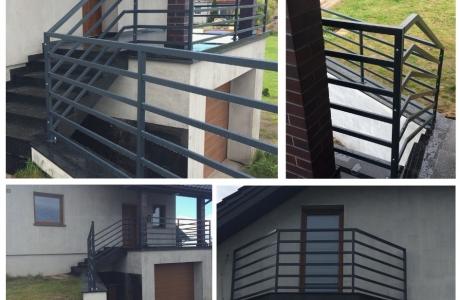 balustrada  ze stali czarnej  cynkowana  i malowana proszkowo - profile