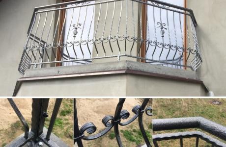balustrada z elementami ozdobnymi C cynkowana