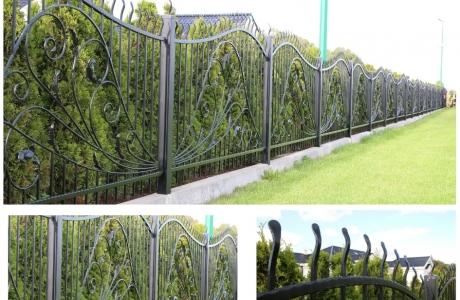 ogrodzenie stal czarna -cynkowana,malowana proszkowo