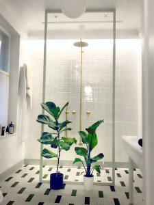 Witryna łazienkowa, Łazienka w stylu loft